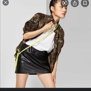 Faux Leather Mini Skirt